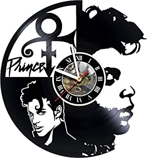 KravchArt Prince - Art Gift -Vinyl Wall Clock Get Unique Living Room Wall Decor - Gift Ideas for Friends, Teens, Men and Women, Girls and Boys - Unique Art Design - Leave A Feedback and Win Clock !