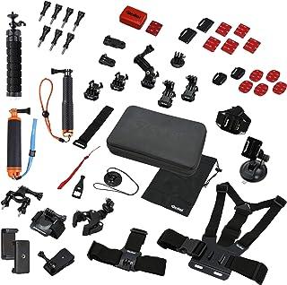 Rollei Actioncam Zubehör Set Sport XL   49 teiliges Zubehör Set, inkl. Tasche, Mini Stativ und Selfie Stick, kompatibel mit allen Rollei und GoPro Actioncams