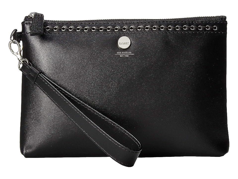 Lodis Accessories Saratoga Koto Wristlet Pouch (Black) Wristlet Handbags