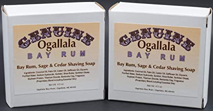 product image for Two (2) Genuine Ogallala Bay Rum, Bay Rum & Sage and Cedar Shaving Soap - Each Puck 4.5 oz
