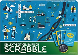 Mattel Games GPW44 Scrabble Dialect Edition Bavarian Word Game and Board Game Suitable for 2 - 4 Players, Board Games and ...