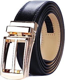 أحزمة جلدية رجالي من Tonywell مع إبزيم مفتوح مناسب تمامًا لفستان حزام عرض 30 مم
