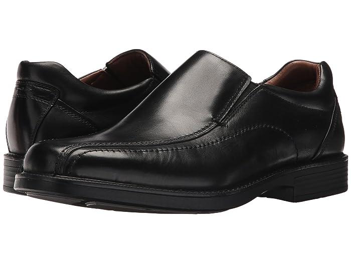 Johnston and Murphy  Waterproof XC4 Stanton Panel Toe Slip-On (Black Waterproof Full Grain) Mens Slip-on Dress Shoes