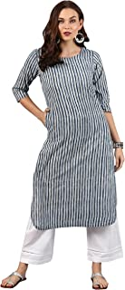 Janasya Women's Multicolor Cotton Kurta With Pant