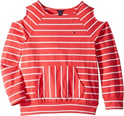 Stripe Boat Neck French Terry Top (Big Kids)