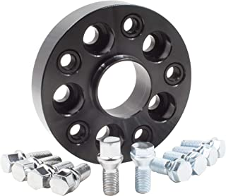 Wheel Accessories Parts 1 Bolt-on Spacer Kit 5x130 to 5x130 Bolt Pattern 71.50 Hub Bore Fit Vehicle with M14x1.5 Thread. Complete Kit with Lug Bolts (Sold as Each) (30mm Thick, Chrome Lug Bolts)