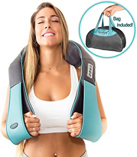 Shiatsu Back shoulder & Neck Massager With Heat – Deep Tissue 3D Kneading..