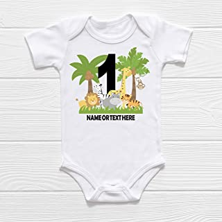 PERSONALIZED Baby Name First Birthday Bodysuit or T-Shirt | First Birthday Outfit | Jungle Safari Birthday |The Big One | Wild One