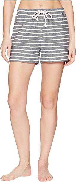Pinstriped Terry Shorts
