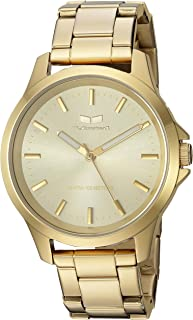 Vestal 'Heirloom' Quartz Stainless Steel Casual Watch, Color:Gold-Toned (Model: HEI3M13)