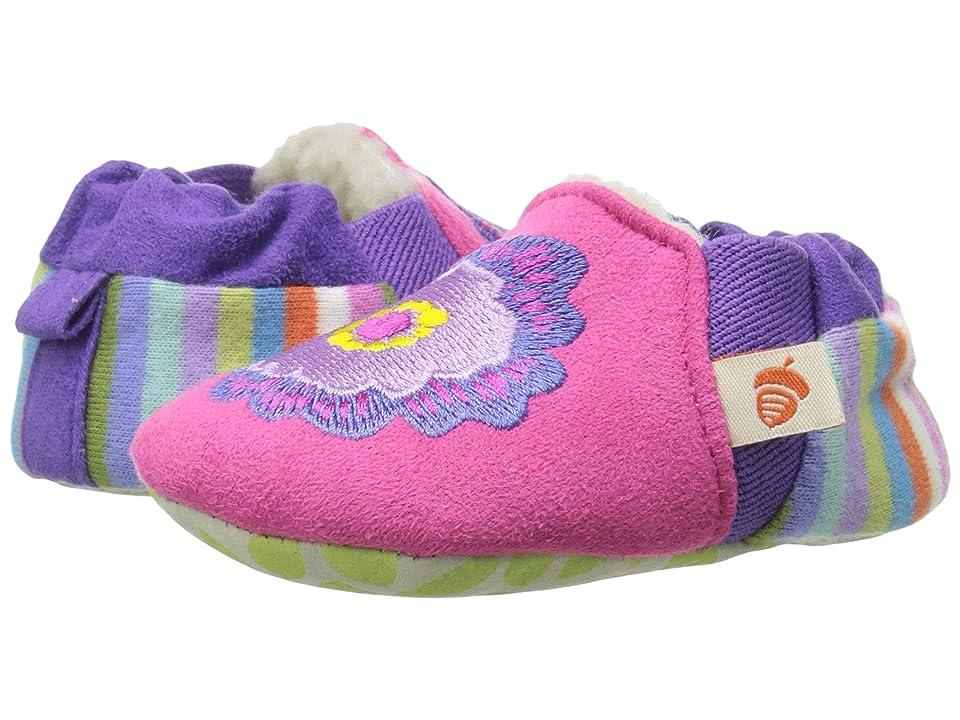 Acorn Kids Easy On Moc - Tots (Infant) (Pink Flower) Girls Shoes