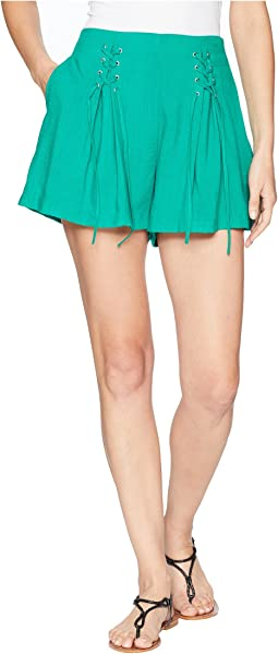 Lace-Up Front Shorts