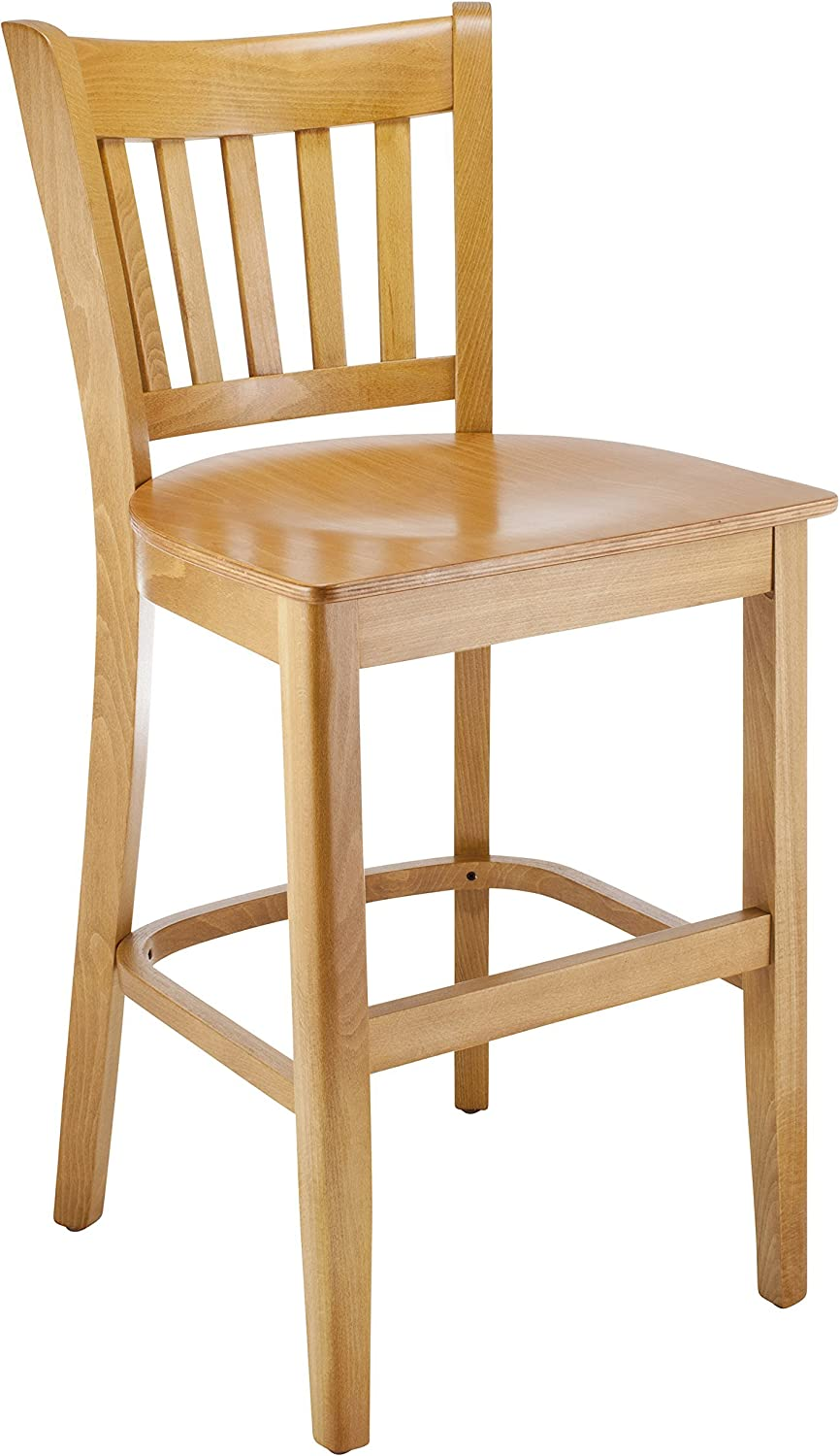 Beechwood Mountain Popular products BSD-4BW24-C Solid Beech Sales for sale Stool in Che Wood bar