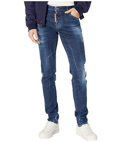 DSQUARED2 Yellow Spots Broken Wash Slim Jeans in Blue (Blue) Men