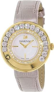 Swarovski Women's Lovely Crystals 5027203 Gold Leather Swiss Quartz Watch