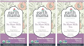 Earth Mama Organic No More Milk Tea for Weaning from Breastmilk, 16 Teabags/Box, Pack of 3