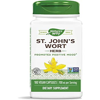 Nature's Way Premium Herbal St. John's Wort Herb, 700 mg per serving, 180 Capsules