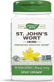 Nature's Way St. John's Wort Herb, 700 mg per serving, Non-GMO & Gluten-Free,180 Vegan Capsules (Packaging May Vary)