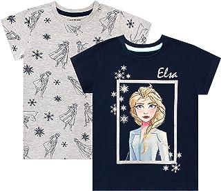 Disney Frozen QE1050 Maglietta a maniche corte da ragazza