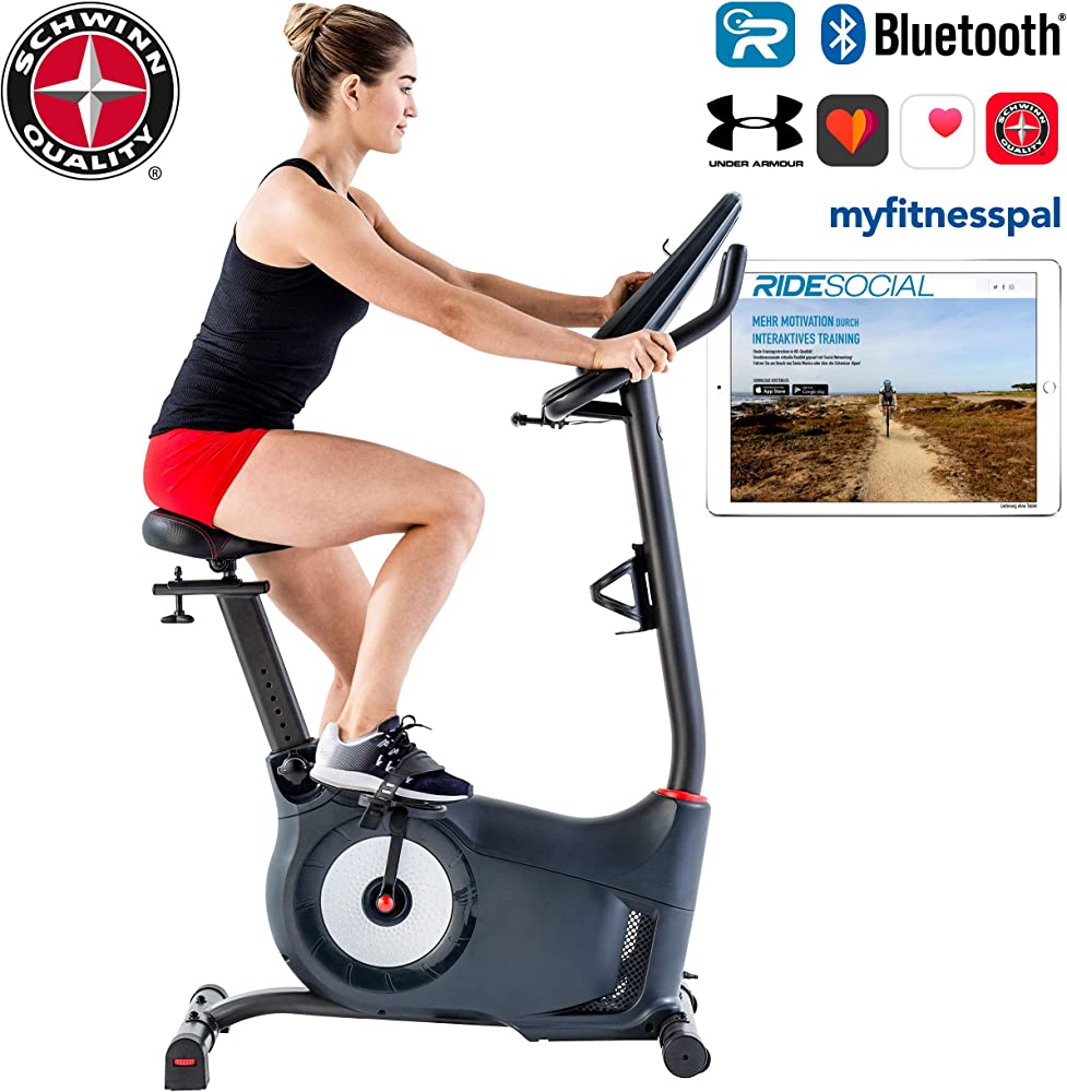 Schwinn, cyclette 25 livelli di resistenza, display doppio, sensori di frequenza cardiaca e di telemetria 100529