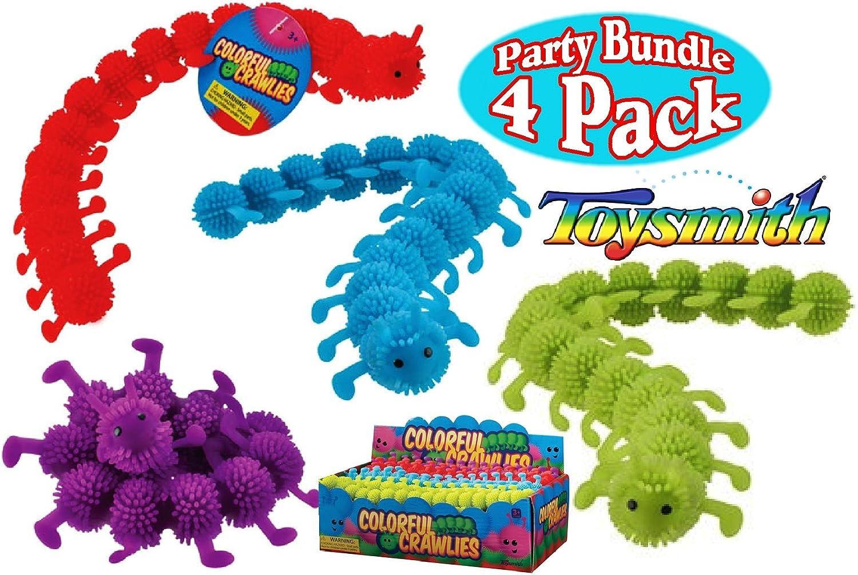 Toysmith Farbeful Crawlies rot, Blau, Grün & lila Complete Party Set Bundle - by Toysmith