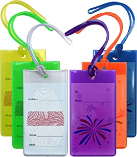 6 Pack Luggage Tags For Suitcases, Flexible Silicone Travel Luggage ID Tag