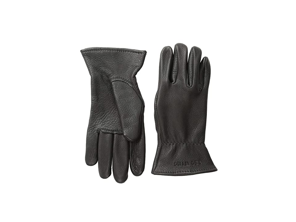 Red Wing Heritage Unlined Gloves (Black Buckskin) Cycling Gloves