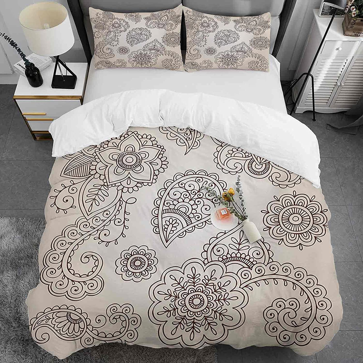 Custom Duvet Trust Cover Super popular specialty store Full Size 100% Pattern Henna Washed Microfib