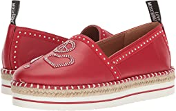 LOVE Moschino - Espadrille w/ Studded Detail