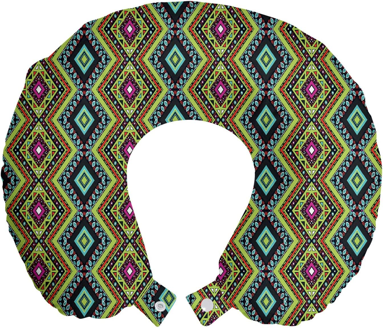 70% OFF 1 year warranty Outlet Ambesonne Ethnic Travel Pillow Neck Rest Folklore Geometric Orn
