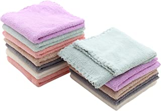 Baby Washcloths 12 Pack 12x12 Inches- Microfiber Coral Fleece Extra Absorbent and Soft for Newborns, Infants and Toddlers ...