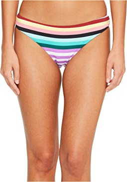 Stripeout Cinched Back Hipster Bikini Bottom