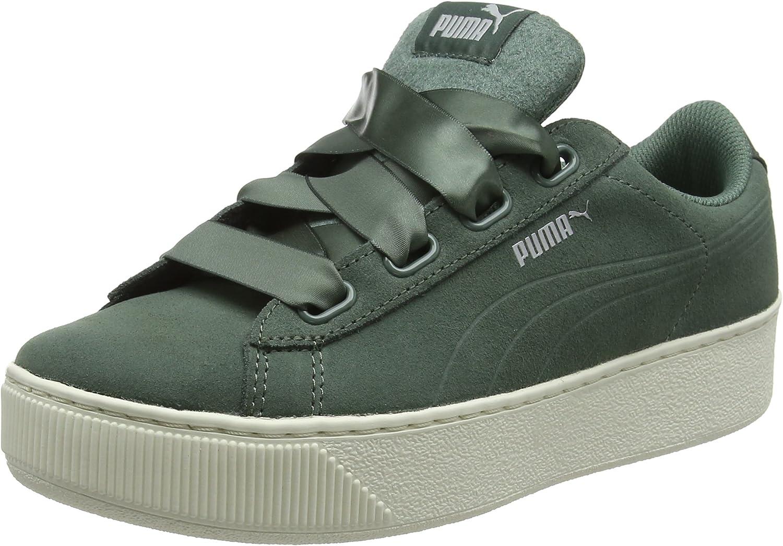 Amazon.com   PUMA Women's Vikky Platform Ribbon S Low-Top Sneakers ...