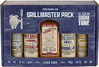 Grillmaster BBQ Sauce & Spice Seasoning Gift Pack - Pork Barrel BBQ Sauce Spice Seasoning Rub Gift Packs