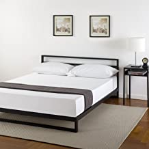 Zinus Trisha 7 Inch Platforma Bed Frame with Headboard / Mattress Foundation / Box Spring Optional / Wood Slat Support, Queen