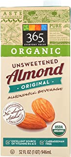 365 Everyday Value, Organic Almond Milk, Original Flavor, Unsweetened, 32 fl oz