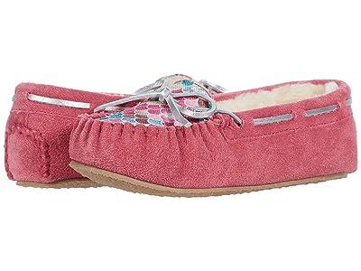 Minnetonka Kids Cassie Slipper (Toddler/Little Kid/Big Kid) (Mermaid Hot Pink Suede) Girls Shoes