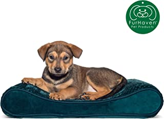 Furhaven Pet Dog Bed   Orthopedic Ergonomic Luxe Lounger Cradle Mattress Pet Bed w/ Removable Cover for Dogs & Cats - Available in Multiple Colors & Styles