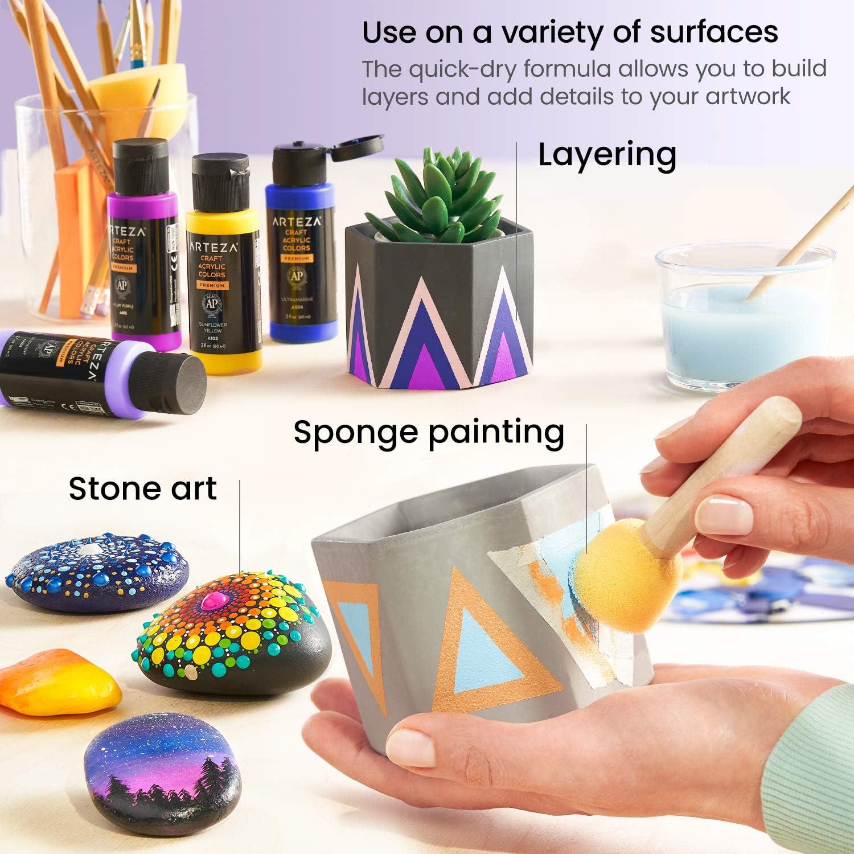 Ceramics Set of 20 Vintage Tones 60 ml Bottles Matte Acrylic Paint Set for Art /& DIY Projects on Glass Fabrics Arteza Craft Acrylic Paint Water-Based Paper /& Canvas Wood Matte Finish