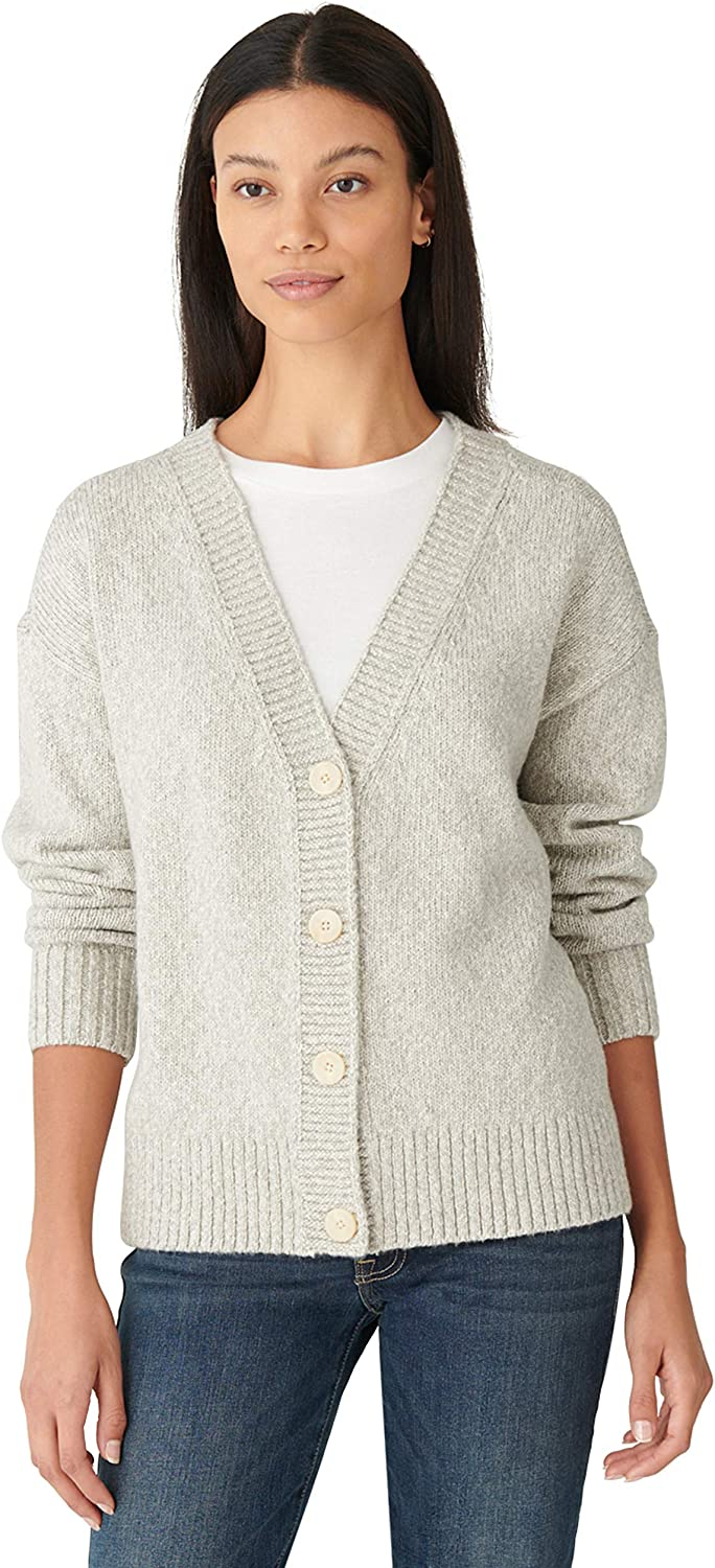 Lucky Brand Women's Long Sleeve Button Front Subtle Shine Cardigan