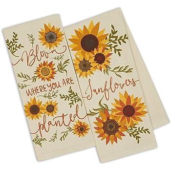 Kitchen Dish Hand Towels Sunflowers Spring Summer Flowers Summer Set of 2!