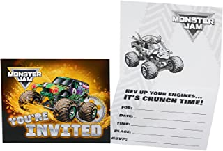 BirthdayExpress Monster Jam Party Supplies - Invitations (8)