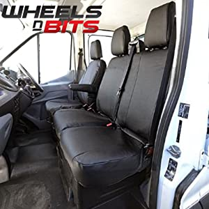 Wheels Bits 100  Fit Tailored Custom fitment Heavy duty Faux PVC Leather Van Seat Cover WaterProof Proofed Oil Dirt Grease Resistant Perfect for Builder Plasters Farming