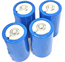 3.6V D Cell 19000mAh ER34615 Li-Socl2 Lithium Battery, 19 Ah D Size (4 pcs)