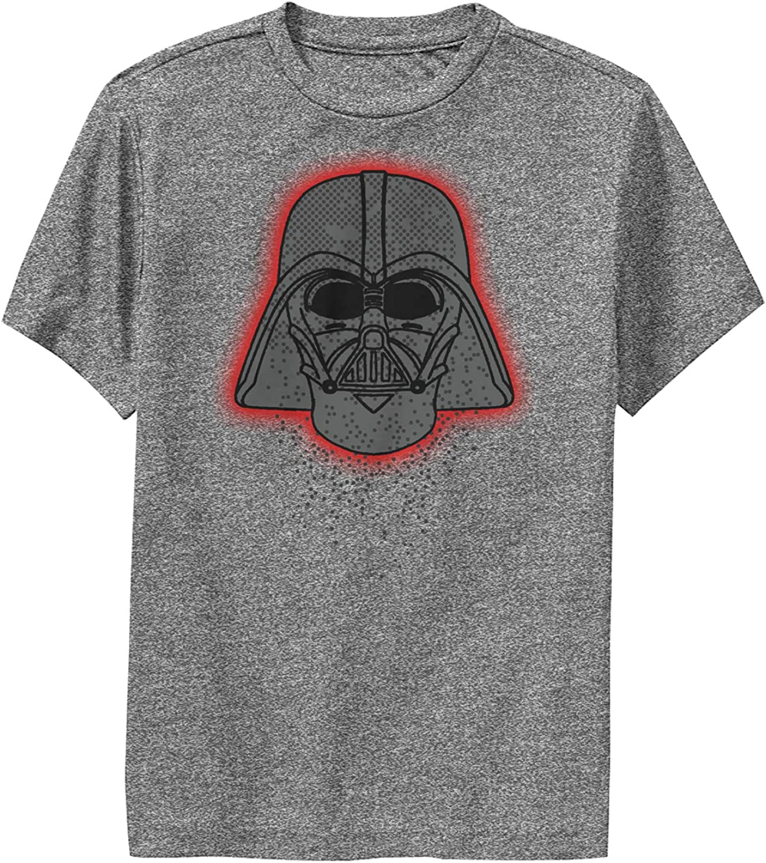 Boy's Star Wars Darth Vader Dot Helmet Performance Tee