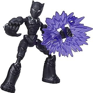 Marvel Avengers Bend and Flex-actiefiguur, flexibele Black Panther-figuur van 15 cm, met blastaccessoire, voor kinderen va...