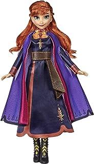 Disney Frost sjungande Anna modedocka med musik som bär en lila klänning inspirerad av Disney Frozen 2, leksak för barn 3 ...