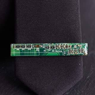 Green Circuit Board Tie Clip, unique gift for computer geek