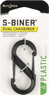 Nite Ize S-Biner Size-2 Dual Carabiner, Strong, Glass-Filled Nylon Plastic, Black