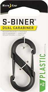 Nite Ize S-Biner Size-2 Dual Carabiner, Strong Plastic, Black